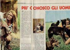 MA123-Clipping-Ritaglio 1975 Brigitte Bardot Più conosco gli uomini....