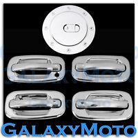 00-06 Chevy Tahoe+Suburban Triple Chrome 4 Door Handle+W/O PSG KH+Gas Cover Kit