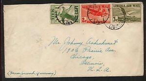 Liberia  airmail  cover to  US       MS1123