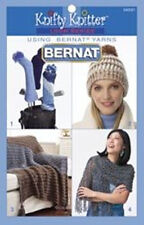 BERNAT KNIFTY KNITTER PATTERN BOOK 4 ROUND~LONG LOOMS!