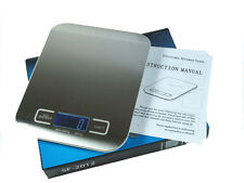 Slim Stainless Steel 11lb x 0.05oz Digital Kitchen Scale for Food / Shipping