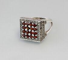 925er Silber Granat-Ring Gr. 60 Neu 7125315