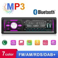 DAB+ RDS AM FM Car Radio Stereo Bluetooth MP3 Player Audio 2 USB TF AUX 1 DIN
