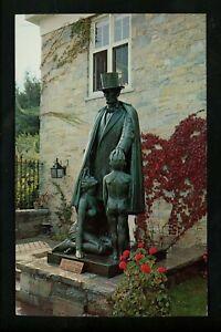 Political President postcard Abraham Lincoln statue IL Exhibit NY Worlds Fair