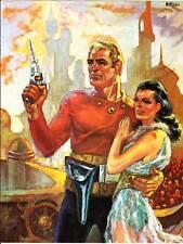 1970 print of DON NEWTON Flash Gordon cover for ROCKET'S BLAST COMICOLLECTOR #76