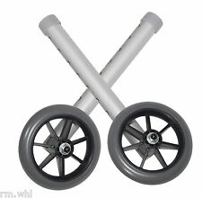 "Deluxe Universal Walker Wheels Replacement 5"" 1 Pair"