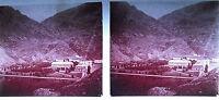 Plaque photo stéréoscopique photographie Vallée d'Ossau vers 1930  Pyrénées