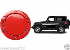 Glossy Red Fuel Door Cover For 2007-2017 Jeep Wrangler JK New Free Shipping USA