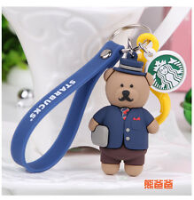 RARE NEW Limited Edition 2017 Starbucks Father's day Bear KeyChain 1pc