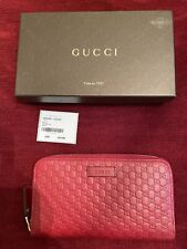 NWT!! Auth GUCCI Guccissima Zip Around Wallet Leather