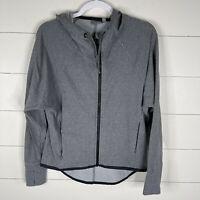 Athleta Womens Gray Size Small Long Sleeve Full Zip Up Hooded Hi Low Sweatshirt