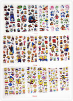 3D Toy Stereoscopic Stickers 18 Sheets/lot Cartoon stickers boys Christmas gift
