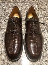 Fratelli Peluso for Barneys New York Brown Alligator Men's Oxford Shoes