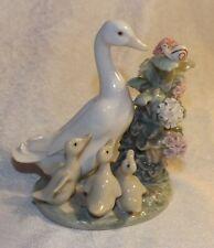 Lladro HOW DO YOU DO 1439 Duck Figurine Ducklings Snail by Juan Huerta