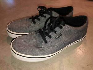 VANS youth sz 6 - GRAY Low Top LACE UP Canvas Sneakers SHOES / ATWOOD