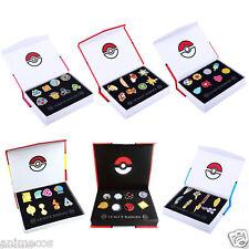 Pokemon Gym Badges Kanto Johto Hoenn Sinnoh Unova Kalos League Pins 6 Sets Box