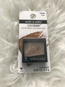 WET N WILD Color Icon Glitter Single Brass C354c Body Face New