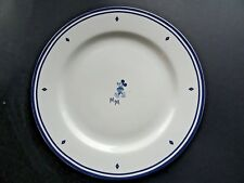 "Mickey Mouse Blue White Disney 11"" Dinner Plate"