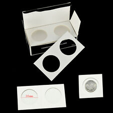 "50Pcs Stamp Coin Holders Cover Case Storage 2X2"" Flip 35mm PRH"