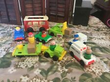 Vintage Fisher Price Vehicle And Figure Lot