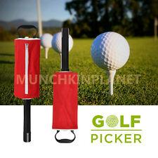 Golf Ball Picker Pick up Putter Holder Retriever Storage Carry Bag 50 balls