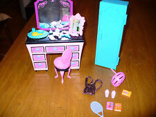 Barbie Vanity and Closet or Locker Lot