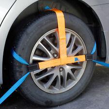 4x Spanngurt Auto Transport 25mm Zurrgurt Radsicherung PKW Reifengurt