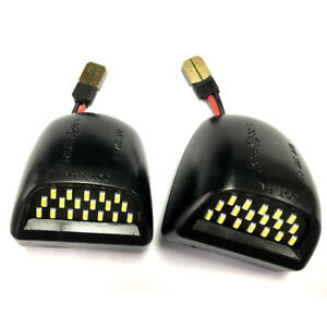License Plate Light Lens w/ LED Bulbs for 2001-2014 Chevrolet Silverado 2500 HD