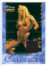"SABLE ""BLACK ON LOCATION EVENT USED MEMORABILIA CARD"" FLEER WWE DIVINE DIVAS"