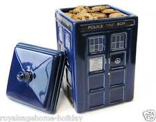DR189 Doctor Who Tardis Cookie Treat Jar Time Machine BBC Police Call Box