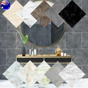 Marble Wall Floor Tile Stickers Waterproof Wallpaper Removable Bathroom Kitchen