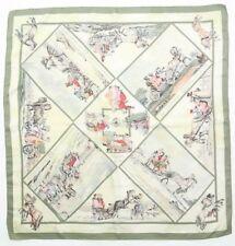 "Rare foulard Hermès "" Voyages Slaves ""  / Authentic  Hermès scarf"