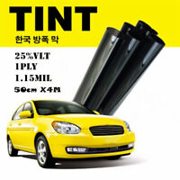 Black Glass Window Tint Film & Shade Roll VLT 25% Auto Car House 50cm*4M New