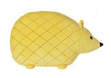 "Hedgehog Throw Pillow Animal Shaped 11 x 14 1/2"" Yellow"