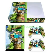 Mine Video Game Vinyl Skin Sticker Decal Protector for Xbox One S Slim