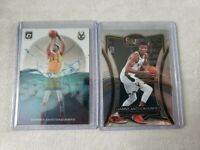 2019-20 Panini Select Giannis Antetokounmpo Premier Level Base (2) Lot Splash