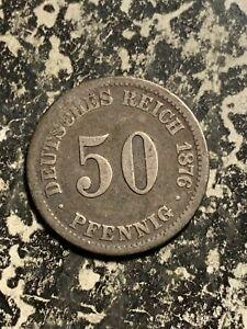 1876-C Germany 50 Pfennig Lot#Q2277 Silver!