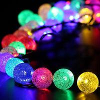 30 LED Ball Solar Outdoor Wedding Party Fairy String Lights Party Garden Decor