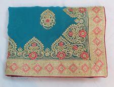 Bollywood Indian Ethnic Traditional Designer Women Saree Sari Bridal Party Dress