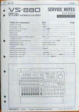 Roland Vs-880 Digital Studio Workstation Original Service Manual Schematics Book