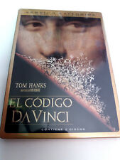 "DVD ""EL CODIGO DA VINCI"" 2DVD VERSION EXTENDIDA CAJA DE METAL RON HOWARD TOM HAN"