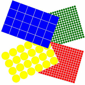 Exterior Vinyl Dot Stickers Circles and Squares 12mm - 100mm + Custom Sizes