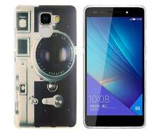 Case f Huawei Honor 7 Schutzhülle Tasche Cover Etui Kamera Fotoapparat retro