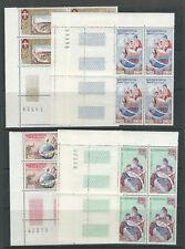 LAOS 1958 UNESCO  (Scott 48-51) VF MNH corner blocks/4
