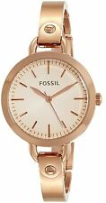 Fossil Women's Classic BQ3026 32mm Rose Gold Dial Stainless Steel Watch