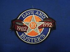 Dave and Buster's 1982 to 1992 10 Year Anniversary Embroidered Iron On Patch