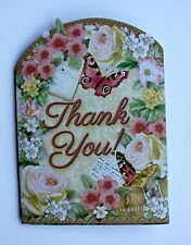 Punch studio greeting cards and invitations ebay punch studio set of 4 thank you blank note cards floral pink roses butterflies m4hsunfo