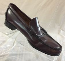 Women's Sebago Penny Loafers Made In USA Size 6 2A Narrow Brown Leather Moc Toe