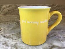 Large Coffee Mug. Good Morning Sunshine, Sun Inside The Mug. Yellow. New.