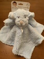 Blankets Beyond Blue Sherpa Puppy Dog Security Blanket Reverse Blue Velour New